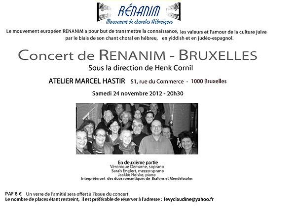 chorale-renanim-brussels-concert-flyer
