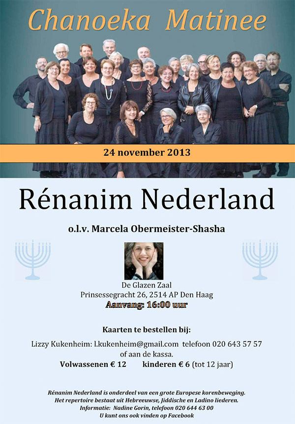 renanim amsterdam concert poster