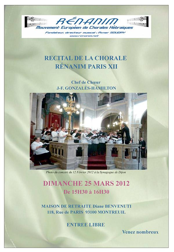 concert renanim paris